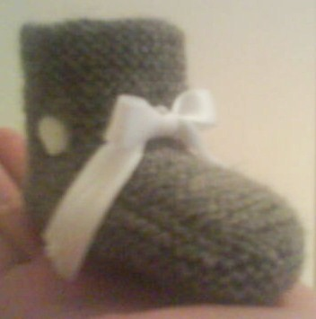 Grå sokk